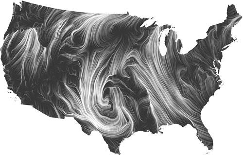 Wind Map - Ben Fry 2012
